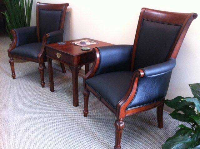 New DMI Chairs with used Stow Davis end table